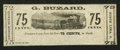 Obsoletes By State:Ohio, North Lima, OH- George Buzard 75¢ Oct. 1, 1862 Remainder WolkaUnlisted. ...