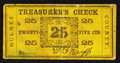 Obsoletes By State:Ohio, (Millersburg), OH- Holmes County - Treasurer 25¢ Wolka 1678-03. ...