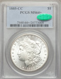 1885-CC $1 MS64+ PCGS. CAC. PCGS Population: (8341/5882 and 385/372+). NGC Census: (3717/2577 and 80/87+). CDN: $650 Whs...