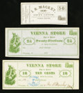 Obsoletes By State:Ohio, Vienna (Centre), OH- Ira B. Mackey 10¢ Apr. 1, 1875; 25¢ Remainder;50¢ Remainder Wolka 2706-02; -03; 2708-04. ... (Total: 3 notes)