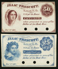 Obsoletes By State:Ohio, Salem, OH- Isaac Trescott 25¢; 50¢ Jan. 1, 1863 Remainders Wolka2363-03; -05. ... (Total: 2 notes)