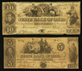 Obsoletes By State:Ohio, Washington, OH- The State Bank of Ohio, Guernsey Branch Counterfeit$5; Counterfeit $10 1847-50 C1550 (SENC); C1558 Wolka 27... (Total:2 notes)