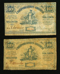 Obsoletes By State:Ohio, Wellington, OH- The Village of Wellington 10¢ (2) Jan. 1863 Wolka2784-02 (2). ... (Total: 2 notes)