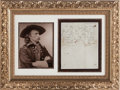 Autographs:Military Figures, George Armstrong Custer: A Handwritten 1868 Cover Letter for an August 10th Confidential Dispatch....