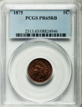 Proof Indian Cents, 1875 1C PR65 Red and Brown PCGS....