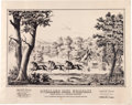 "Miscellaneous:Broadside, ""Overland Mail Company"": A Delightful and Very Rare Large, Lithographed Advertising Broadside, Circa Early 1870s. ..."