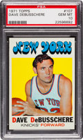 Basketball Cards:Singles (1970-1979), 1971 Topps Dave Debusschere #107 PSA Gem Mint 10 - Pop Three. ...