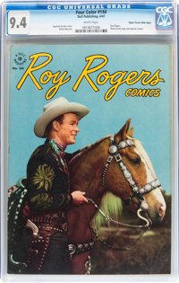 Four Color #144 Roy Rogers - Mile High pedigree (Dell, 1947) CGC NM 9.4 White pages