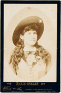 Photography:Cabinet Photos, Annie Oakley: Rare Cabinet Card....