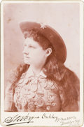 Photography:Cabinet Photos, Annie Oakley: Classic Cabinet Card....
