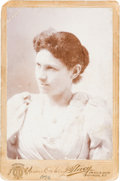 Photography:Cabinet Photos, Annie Oakley: Rare 1896 Signed Cabinet Card....