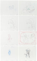 Animation Art:Production Drawing, The Simpsons Animation Drawing Original Art Group (Fox,1991-2003).... (Total: 8 Items)