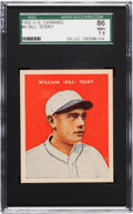 Baseball Cards:Singles (1930-1939), 1932 U.S. Caramel Bill Terry #4 SGC 86 NM+ 7.5 - Pop Two, OneHigher. ...