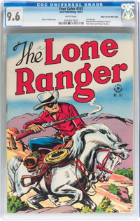 Four Color #167 The Lone Ranger - Mile High pedigree (Dell, 1947) CGC NM+ 9.6 White pages