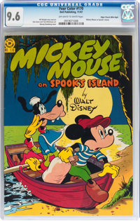 Four Color #170 Mickey Mouse - Mile High pedigree (Dell, 1947) CGC NM+ 9.6 Off-white to white pages