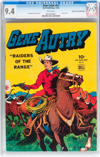 Four Color #57 Gene Autry - Mile High pedigree (Dell, 1944) CGC NM 9.4 White pages