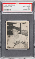 Baseball Cards:Singles (1940-1949), 1948 Bowman Bob Feller #5 PSA NM-MT+ 8.5....