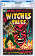 Golden Age (1938-1955):Horror, Witches Tales #19 Big Apple pedigree (Harvey, 1953) CGC FN/VF 7.0Cream to off-white pages....