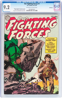 Our Fighting Forces #1 Bethlehem pedigree (DC, 1954) CGC NM- 9.2 Off-white to white pages