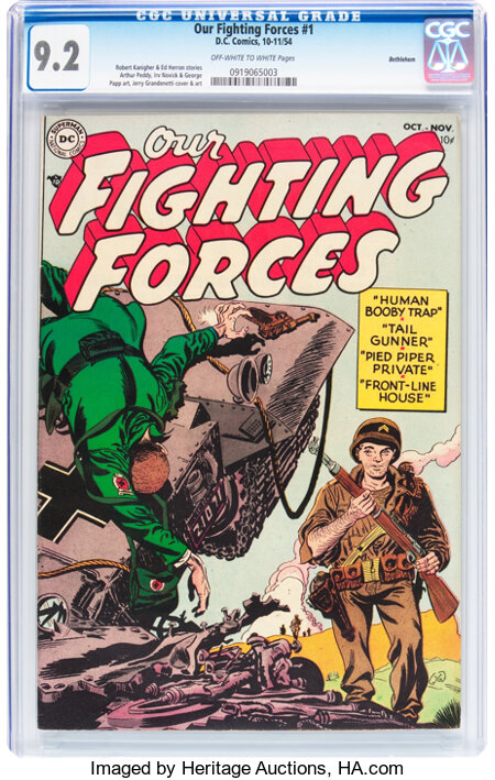 Our Fighting Forces #1 Bethlehem pedigree (DC, 1954) CGC NM- 9.2 Off-white to white pages....