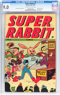 Super Rabbit #1 (Timely, 1944) CGC VF/NM 9.0 Off-white to white pages