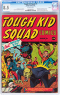 Golden Age (1938-1955):Superhero, Tough Kid Squad Comics #1 Denver pedigree (Timely, 1942) CGC VF+ 8.5 Off-white pages....