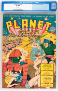 Golden Age (1938-1955):Science Fiction, Planet Comics #8 (Fiction House, 1940) CGC VF 8.0 Off-whitepages....