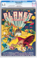 Golden Age (1938-1955):Science Fiction, Planet Comics #6 (Fiction House, 1940) CGC FN+ 6.5 Cream tooff-white pages....