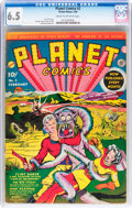 Golden Age (1938-1955):Science Fiction, Planet Comics #2 (Fiction House, 1940) CGC FN+ 6.5 Cream tooff-white pages....