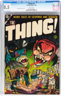 Golden Age (1938-1955):Horror, The Thing! #13 (Charlton, 1954) CGC VF+ 8.5 White pages....