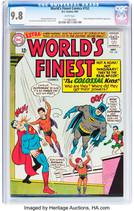 World's Finest Comics #152 (DC, 1965) CGC NM/MT 9.8 White pages....