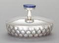 Silver Holloware, American:Vegetable Dish, A HENRY PETZAL SILVER AND LAPIS COVERED BOWL. Henry Petzal, Lenox,Massachusetts and La Jolla, California, circa 1973. Marks...