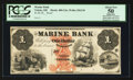 Obsoletes By State:Ohio, Toledo, OH- The Marine Bank $1 G2a Wolka 2562-01 Proof. ...