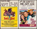 "Movie Posters:Adventure, Lord Jim & Others Lot (Columbia, 1965). Window Cards (4) (14"" X22""). Adventure.. ... (Total: 4 Items)"