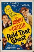 """Movie Posters:Comedy, Hold That Ghost (Realart, R-1948). One Sheet (27"""" X 41""""). Comedy....."""