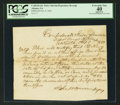 Confederate Notes:Group Lots, Interim Depositary Receipt Atlanta, GA- $4000 Oct. 8, 1863 TremmelGA-17.. ...