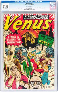Venus #11 (Timely, 1950) CGC VF- 7.5 Off-white pages