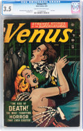Golden Age (1938-1955):Horror, Venus #19 (Timely, 1952) CGC VG- 3.5 Cream to off-white pages....