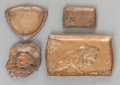Silver Holloware, American:Trays, FOUR GORHAM PATINATED BRONZE TRAYS . Gorham Manufacturing Co., Providence, Rhode Island, circa 1900. Marks: (anchor), GORH... (Total: 4 Items)