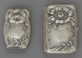 Silver Holloware, American:Other , AN AMERICAN SILVER MATCH SAFE AND CIGARETTE CASE. Makerunidentified, circa 1880. Marks: STERLING . 3-1/2 incheslong (8...