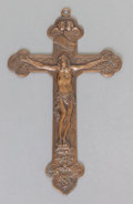 Silver Smalls:Other , A GORHAM PATINATED COPPER CRUCIFIX . Gorham Manufacturing Co.,Providence, Rhode Island, 1929. Marks: (anchor), GORHAMCO....