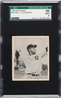 Baseball Cards:Singles (1940-1949), 1948 Bowman Billy Johnson #33 SGC 96 Mint 9 - None Higher!...