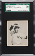 Baseball Cards:Singles (1940-1949), 1948 Bowman Snuffy Stirnweiss #35 SGC 96 Mint 9 - None Higher! ...