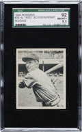 Baseball Cards:Singles (1940-1949), 1948 Bowman Red Schoendienst #38 SGC 92 NM/MT+ 8.5 - The Finest SGCExample!...
