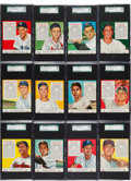 Baseball Cards:Sets, 1953 Red Man Baseball SGC Graded Partial Set (19). ...