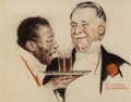 "Illustration:Magazine, NORMAN ROCKWELL (American, 1894-1978). ""For Double Reason You'llPrefer Double Rich,"" Schenley Cream of Kentucky, whiskey ..."