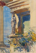 Works on Paper, WILLIAM DE LEFTWICH DODGE (American, 1867-1935). Caryatid Porch at Villa Francesca, Setauket, Long Island, after 1906. W...