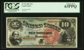 Large Size:Legal Tender Notes, Fr. 96 $10 1869 Legal Tender PCGS Choice New 63PPQ.. ...