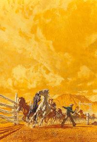 FRANK MCCARTHY (American, 1924-2002) The Pick of the Roundup, paperback cover Mixed media on board