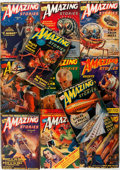 Books:Science Fiction & Fantasy, [Pulps]. Amazing Stories. 1939. Eleven issues, missing only August. Chicago: Ziff-Davis, 1939. Original printed wrap... (Total: 11 Items)